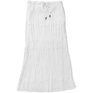 White layered boho skirt